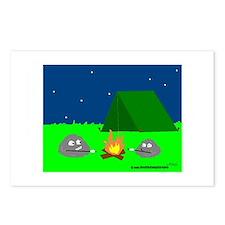 CAMPING ROCKS (CARTOON LOOK) Postcards (Package of