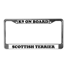 K9 On Board Scottish Terrier License Plate Frame