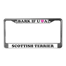 Bark Love Scottish Terrier License Plate Frame