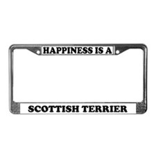 Happiness Is Scottish Terrier License Plate Frame