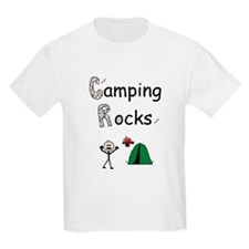 CAMPING ROCKS Kids T-Shirt