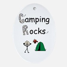 CAMPING ROCKS Oval Ornament