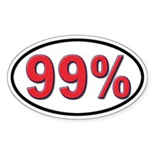 99% Oval Stickers Decal