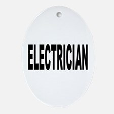 Electrician Ornament (Oval)