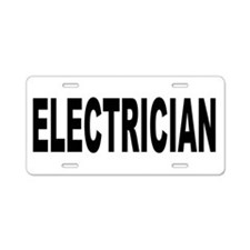 Electrician Aluminum License Plate