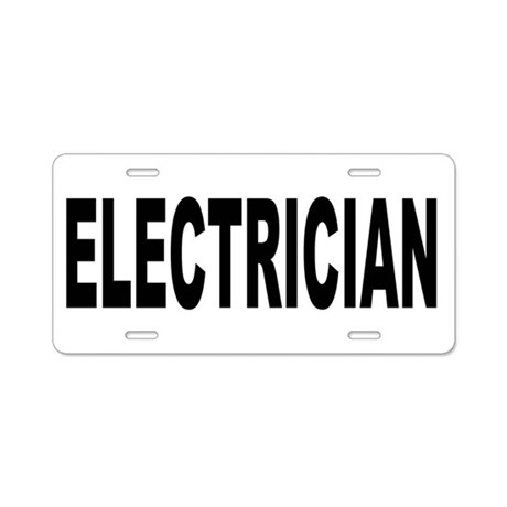 Electrician Aluminum License Plate by career1