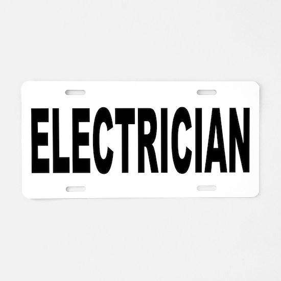 Electrician Aluminum License Plate