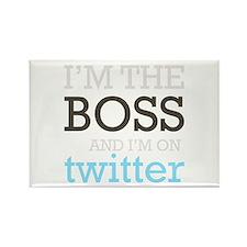 Twitter Boss Rectangle Magnet