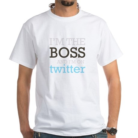 Twitter Boss White T-Shirt