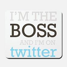 Twitter Boss Mousepad