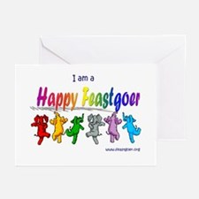 I am a Happy Feastgoer Greeting Cards (Package of