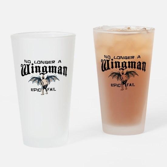 Wingman Epic Fail Drinking Glass