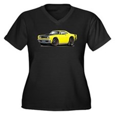 1969 Super Bee A12 Yellow Women's Plus Size V-Neck
