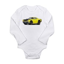 1969 Super Bee A12 Yellow Long Sleeve Infant Bodys