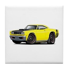 1969 Super Bee A12 Yellow Tile Coaster