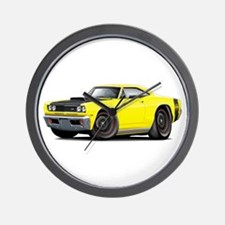 1969 Super Bee A12 Yellow Wall Clock