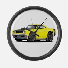 1969 Super Bee A12 Yellow Large Wall Clock