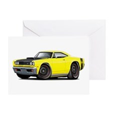1969 Super Bee A12 Yellow Greeting Card