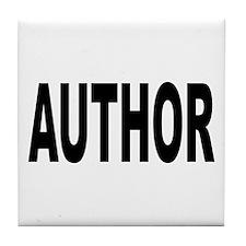 Author Tile Coaster