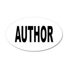 Author 22x14 Oval Wall Peel