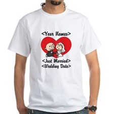 Just Married (Add Names & Wedding Date) Shirt