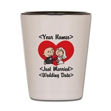 Just Married (Add Names & Wedding Date) Shot Glass