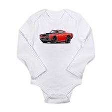 1969 Super Bee A12 Red Long Sleeve Infant Bodysuit
