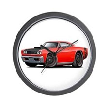1969 Super Bee A12 Red Wall Clock