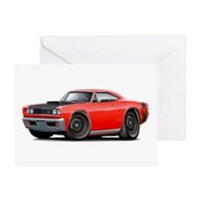 1969 Super Bee A12 Red Greeting Card