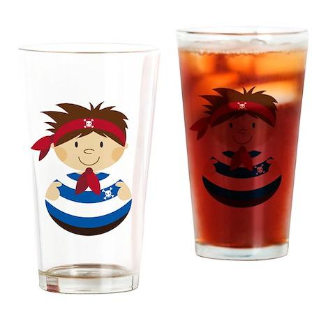 Cute Pirate Drinking Glass