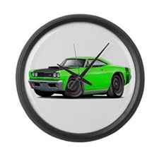 1969 Super Bee A12 Lime Large Wall Clock