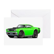 1969 Super Bee A12 Lime Greeting Card