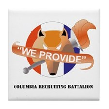DUI-COLUMBIA RECRUITING BN WITH TEXT Tile Coaster
