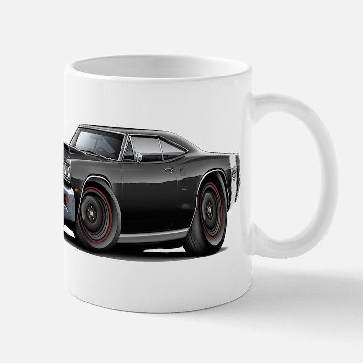 1969 Super Bee A12 Black Mug