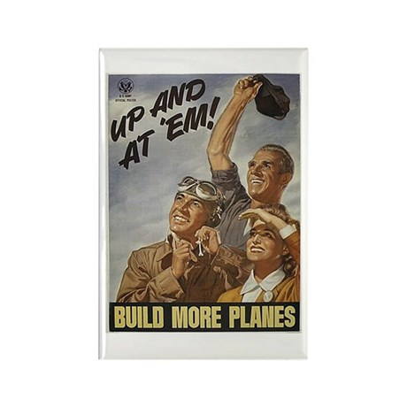 Build More Planes Rectangle Magnet (10 pack)