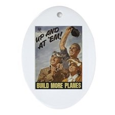 Build More Planes Oval Ornament