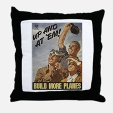 Build More Planes Throw Pillow