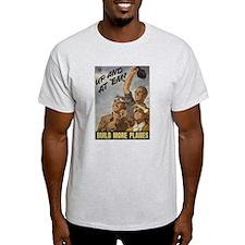 Build More Planes Ash Grey T-Shirt