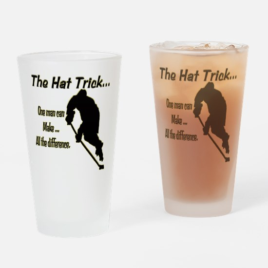 The Hat Trick Drinking Glass