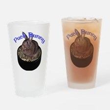Puck Bunny Drinking Glass