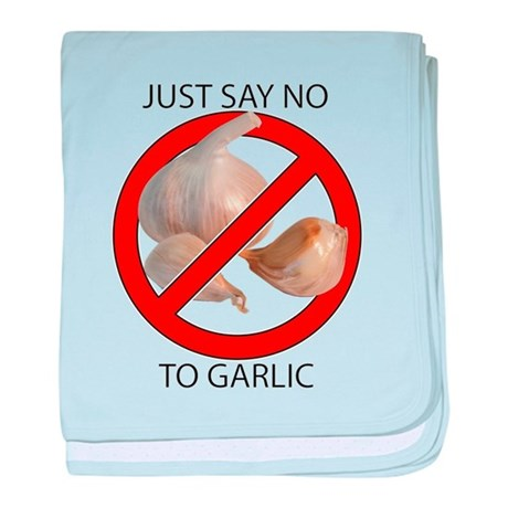 Just Say No to Garlic baby blanket