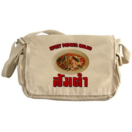 Spicy Papaya Salad (Som Tam) Messenger Bag