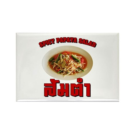 Spicy Papaya Salad (Som Tam) Rectangle Magnet