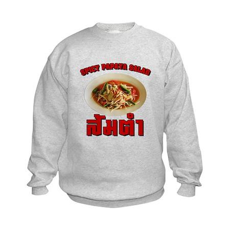 Spicy Papaya Salad (Som Tam) Kids Sweatshirt