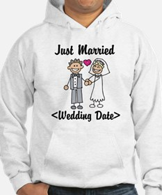Just Married (Add Your Wedding Date) Hoodie