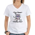 Just Married (Add Names & Wedding Date) Women's V-