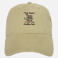 Just Married (Add Names & Wedding Date) Baseball Baseball Cap