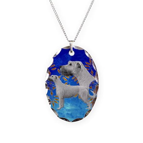 Winter Blue IRW Necklace Oval Charm