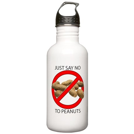 Just Say No to Peanuts Stainless Water Bottle 1.0L