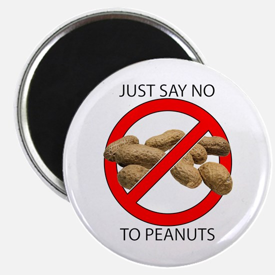 Just Say No to Peanuts Magnet